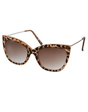 ASOS Tort Ridge Detail Cat Eye Sunglasses