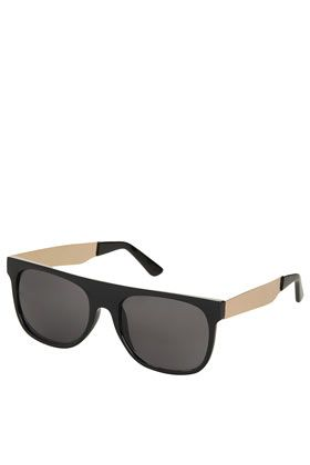 Topshop Metal Arm Flatbrow Sunglasses