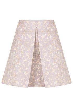 Topshop  Lilac Floral A-Line Skirt