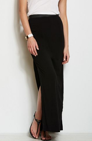 Armani Exchange  Side Slit Maxi Skirt
