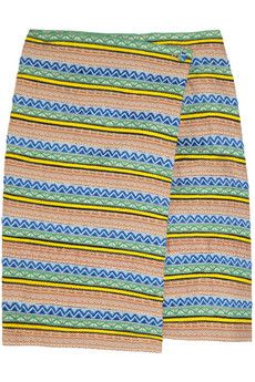Band of Outsiders Jacquard-Ribbon Wrap Skirt