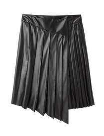 Cédric Charlier Faux Leather Skirt