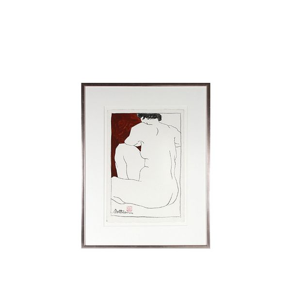 "by Rip Matteson ""Nude Drawing in Red & White"""