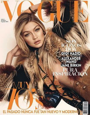 Gigi Hadid Lands The Cover Of Vogue Spain