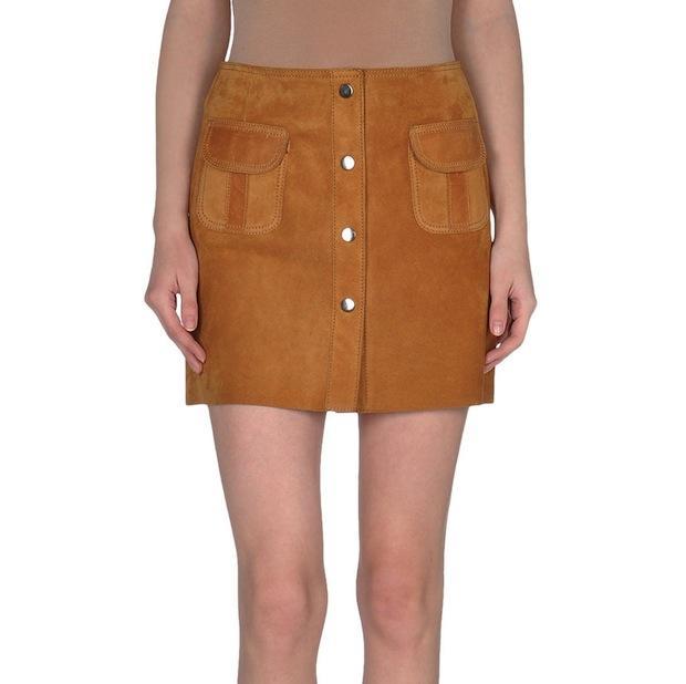 COUTURE DU CUIR Mini skirt