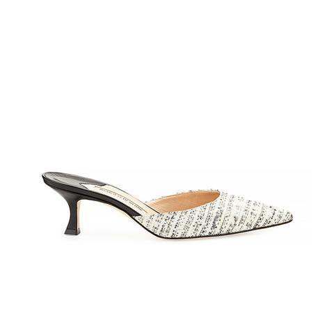Carolyne Tweed Mule Slides ($