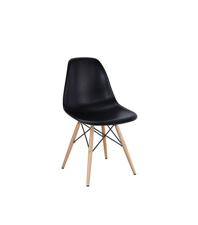 Charles and Ray Eames Wood DSW Dining Side Chair Black
