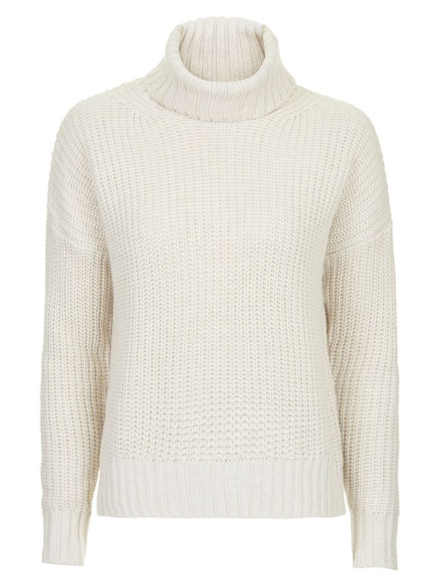 Topshop Chunky Ribbed Roll Neck Jumper