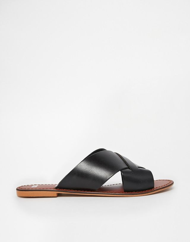 ASOS Flick Leather Slides