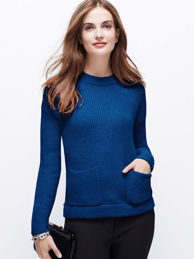 Ann Taylor Cozy Pocket Sweater