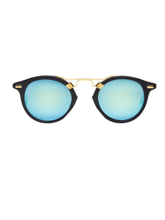 Krewe St. Louis Matte Black Sunglasses