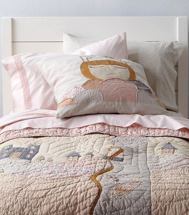Land of Nod Let Your Hair Down Bedding