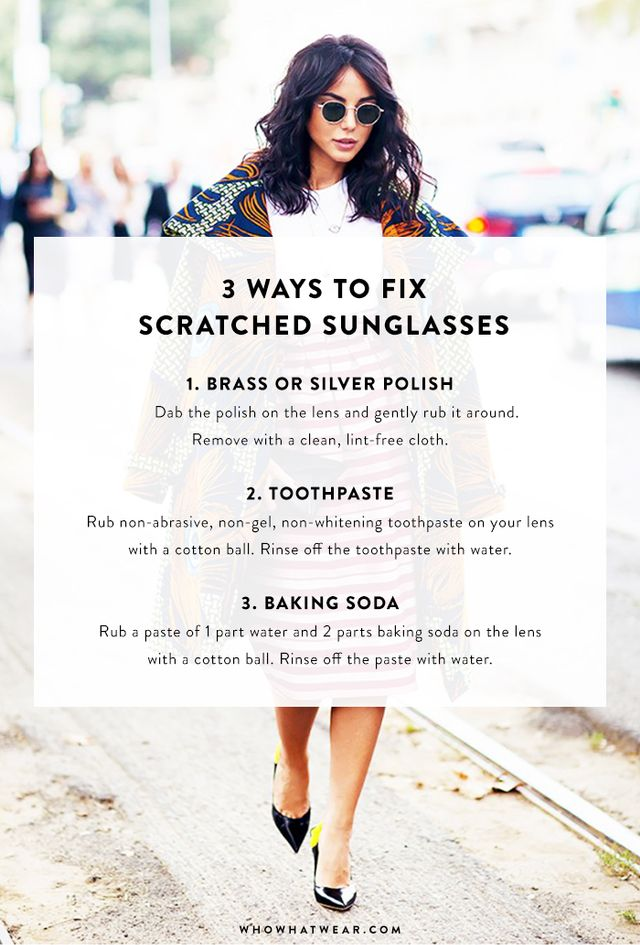 Fix Scratched Polarized Sunglasses  3 hacks to fix scratched sunglasses whowhatwear