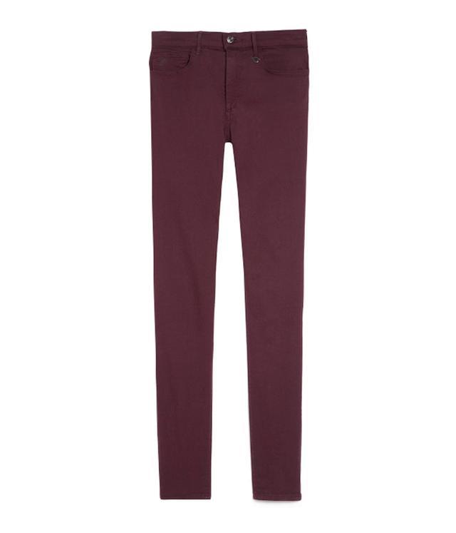 Joan Smalls x True Religion Burgundy Skinny Jeans