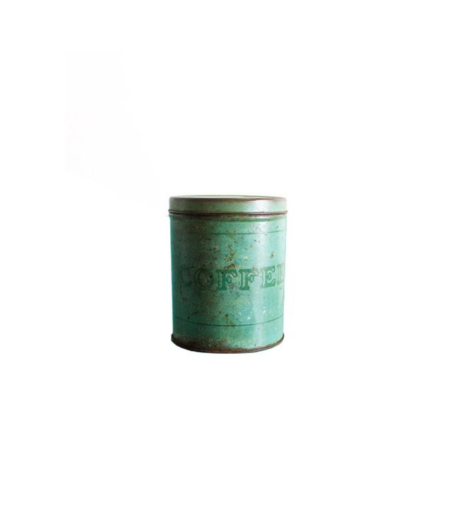 Zin and Honey Antique Teal Coffee Tin