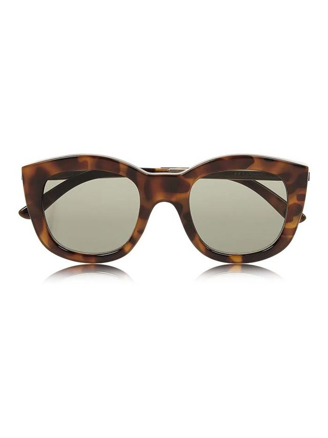 Le Specs Runaways Luxe Cate Eye Acetate Sunglasses