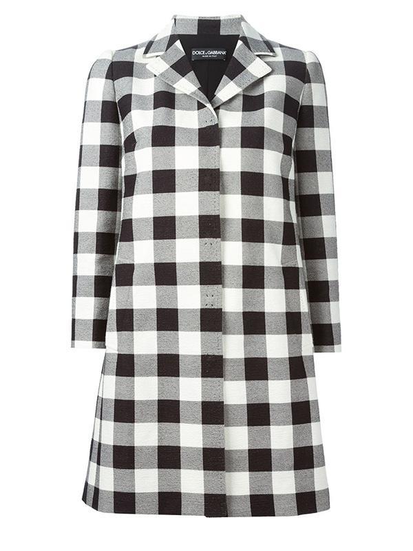 Dolce & Gabbana Checked Coat