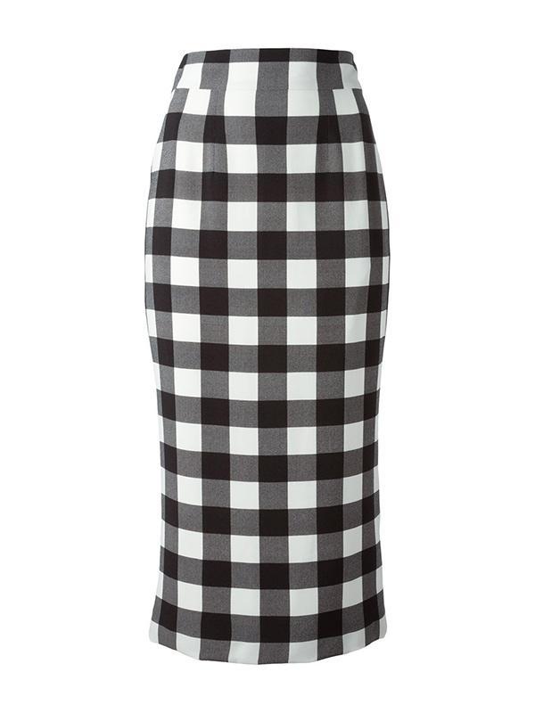 Dolce & Gabbana Midi Check Skirt