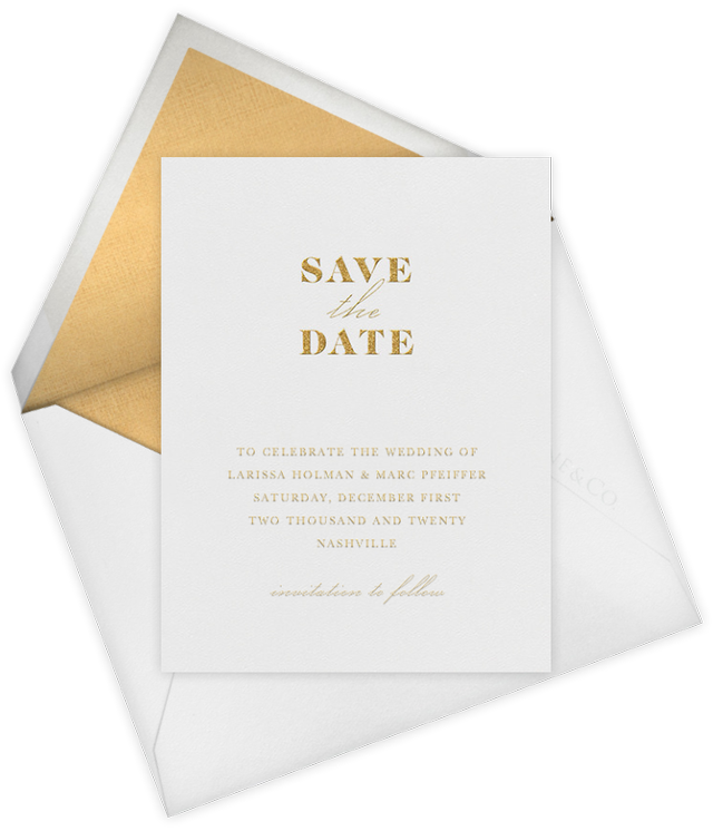 Vera Wang for Paperless Post Dyad (Save the Date)