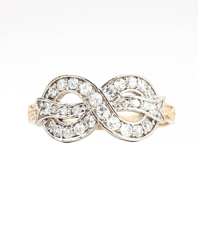 1909 by Erica Weiner Diamond Bow Ring