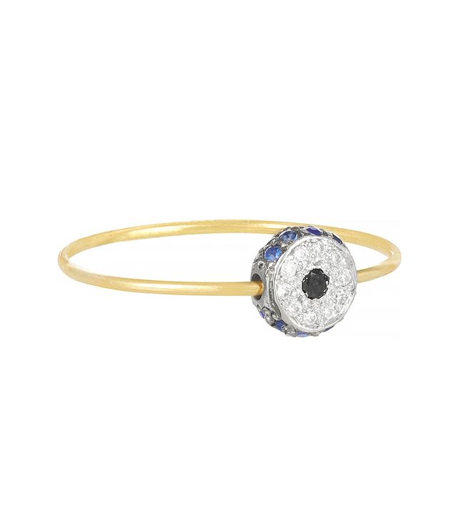 Ileana Makri Leda 18-Karat Gold, Diamond and Sapphire Ring