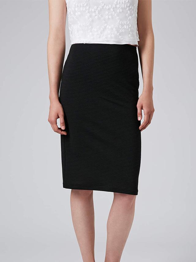 Topshop Ribbed Bodycon Tube Skirt