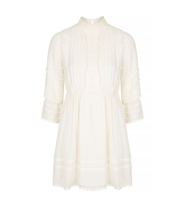 Topshop High Neck Victoriana Dress