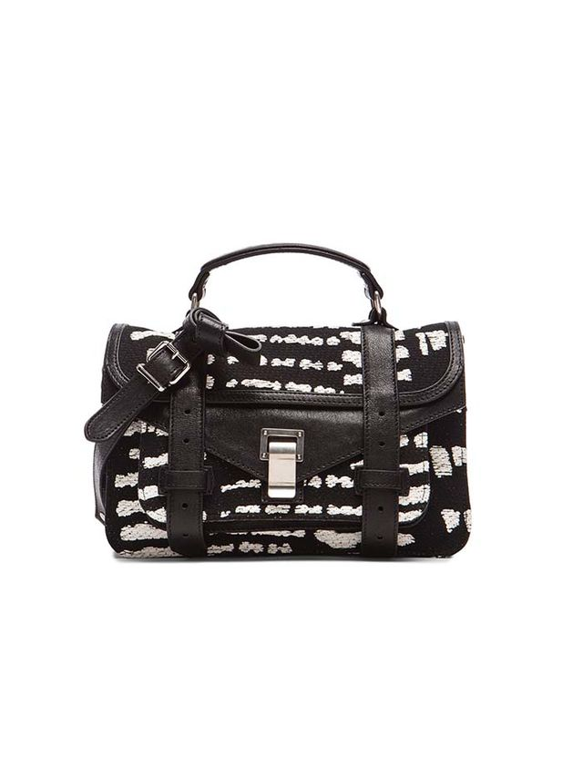 Proenza Schouler Tiny PS1 Wood Block Jacquard Bag