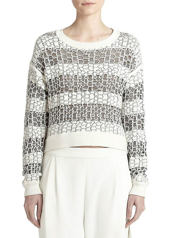 10 Crosby Derek Lam Striped Jacquard Sweater