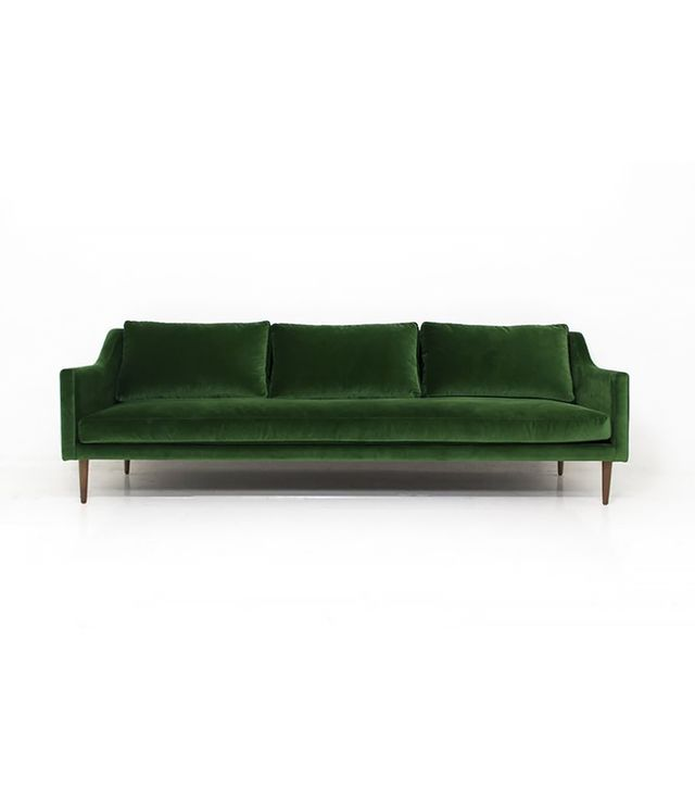 Mod Shop Naples Sofa in Emerald Green Velvet