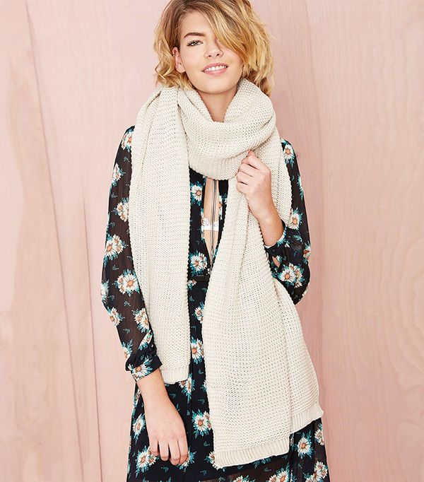 The New Way Everyone Is Wearing Their Scarf Whowhatwear Uk