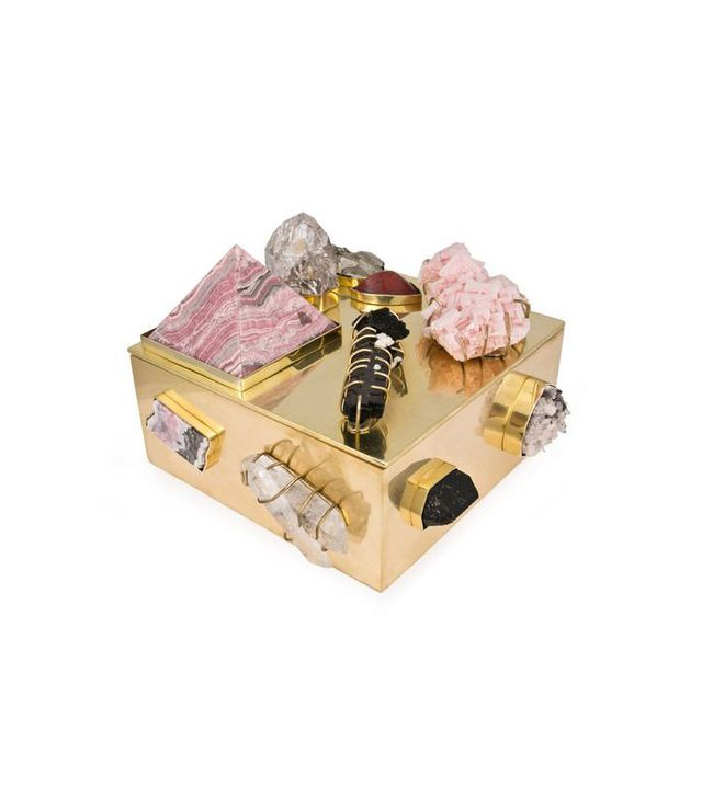 Kelly Wearstler Rose Quartz and Halite Bauble Box