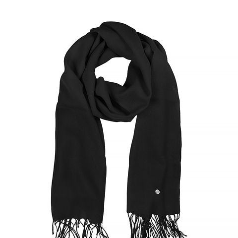 Black Wool and Cashmere Stole