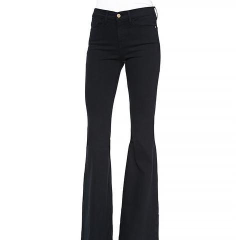 Forever Karlie Flared-Leg Denim Jeans in Film Noir