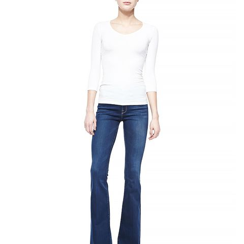 Forever Karlie Flared-Leg Denim Jeans in Blue