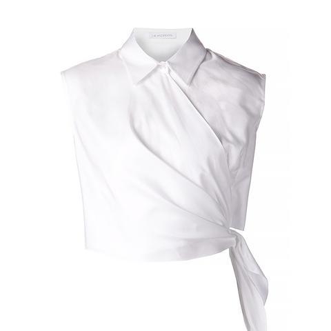 Sleeveless Wrap Style Shirt