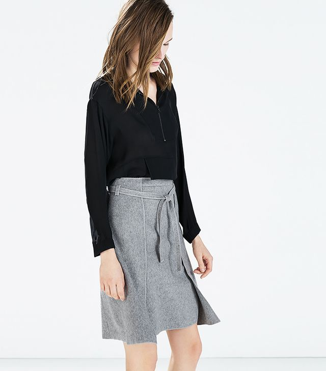 Zara Wool Wrap Skirt