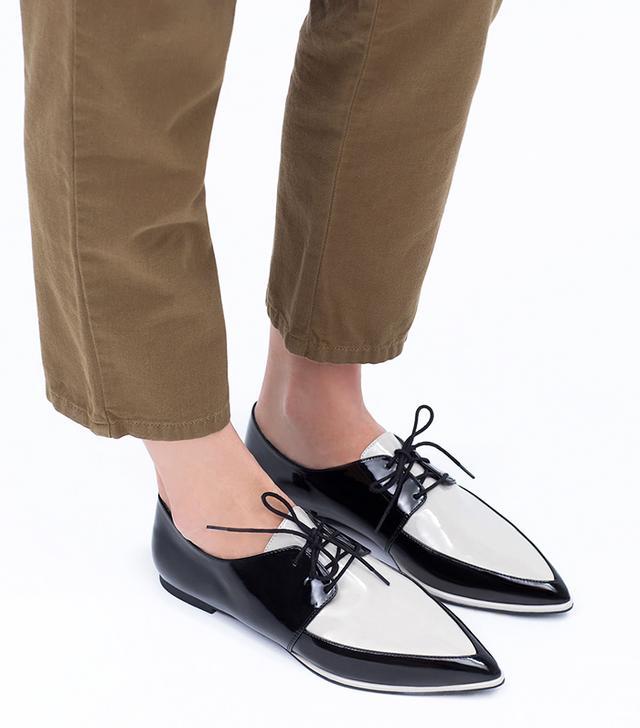 Zara Patent Toe Bluchers