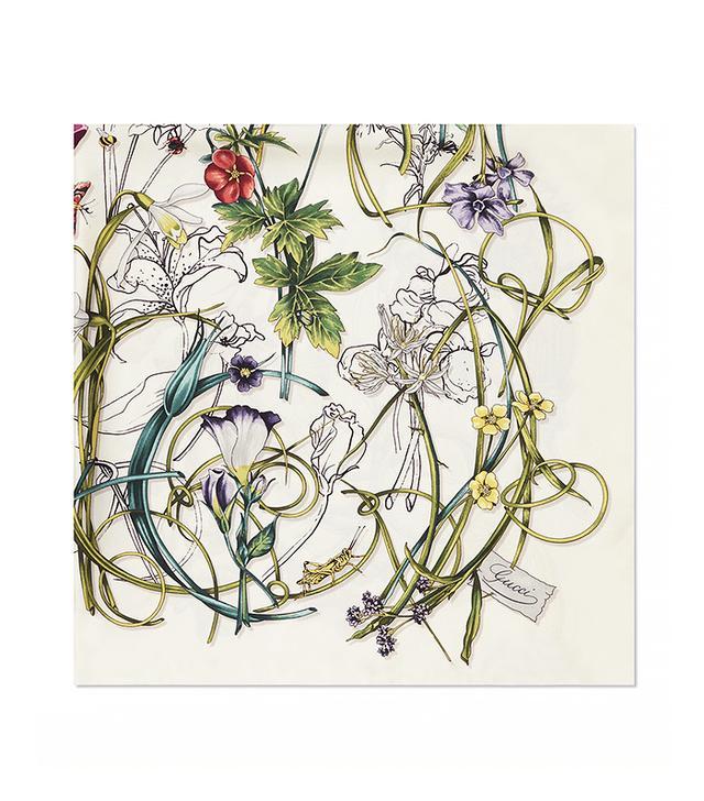 Gucci Flora Infinity Print Silk Foulard