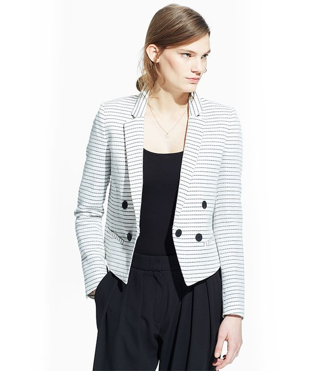 MANGO Striped Blazer