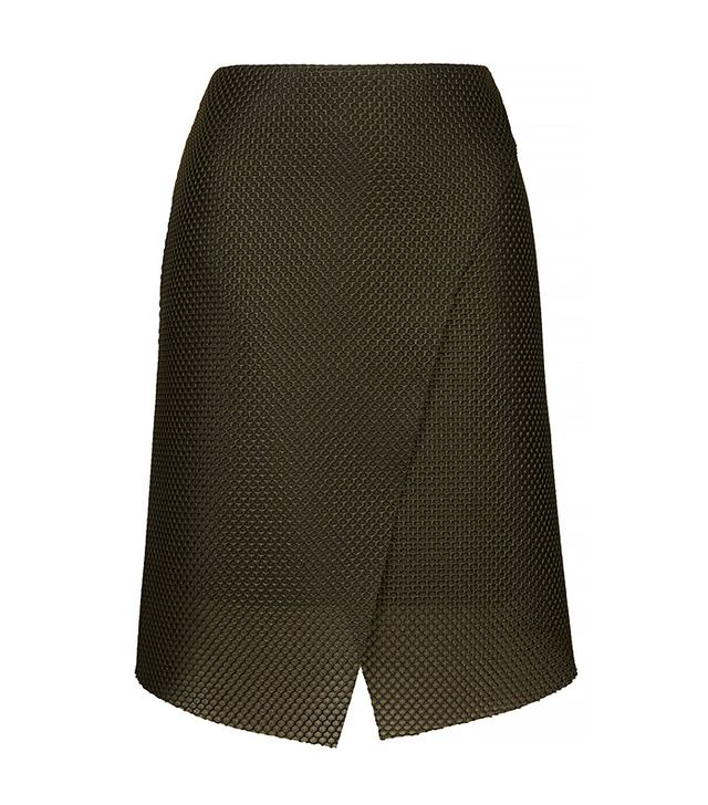 Topshop Airtex Wrap Skirt