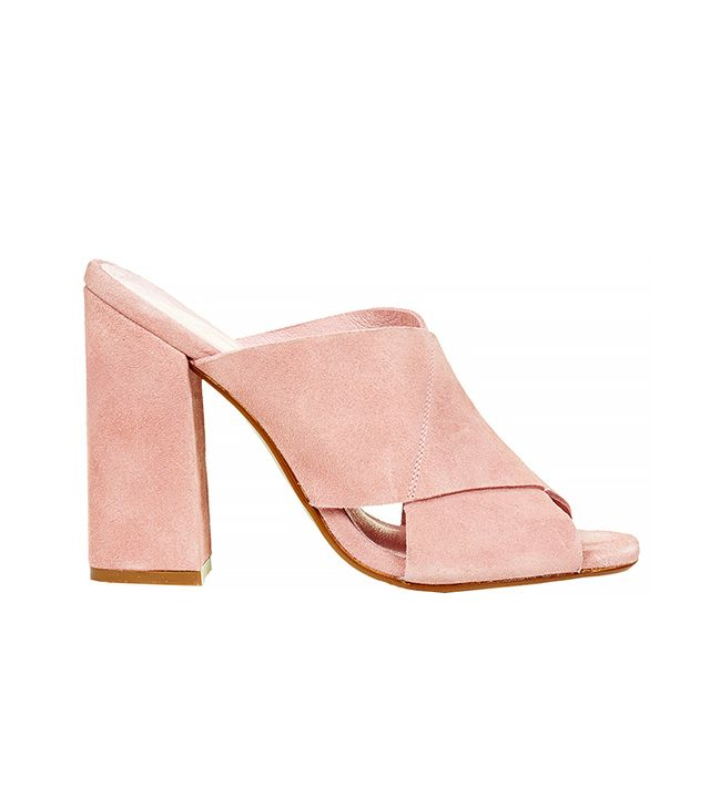 Topshop Grand Suede Mules
