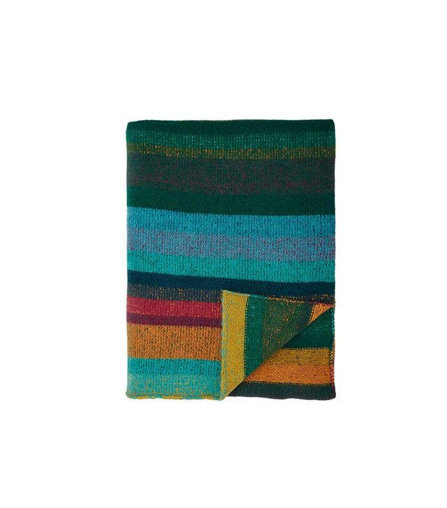 The Elder Statesman Stripe Double-Face Throw