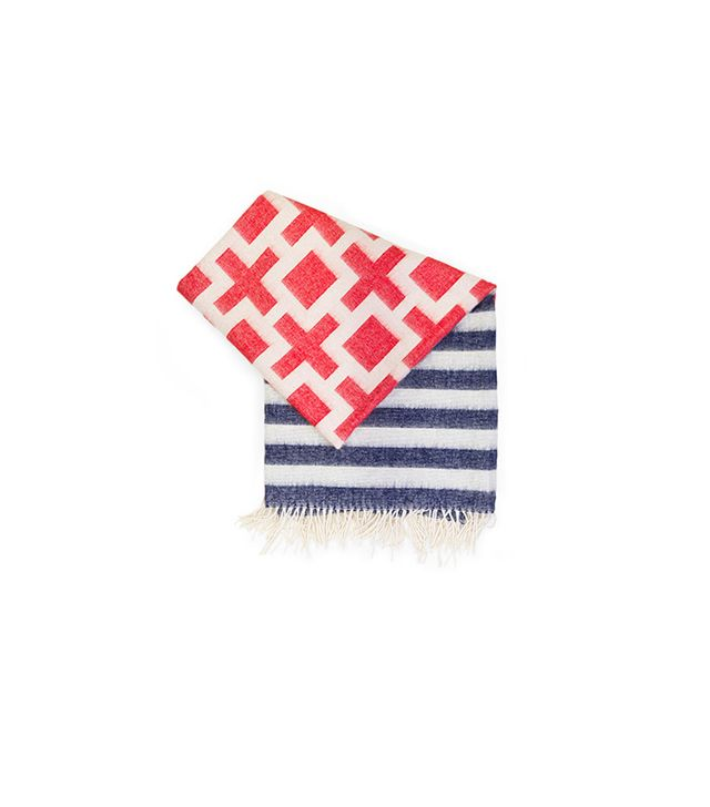 Jonathan Adler Striped Nixon Alpaca Throw