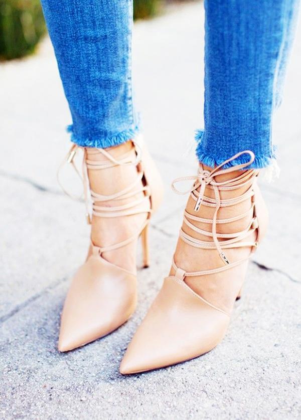 Repins:2013 Shop similar lace-up heels.