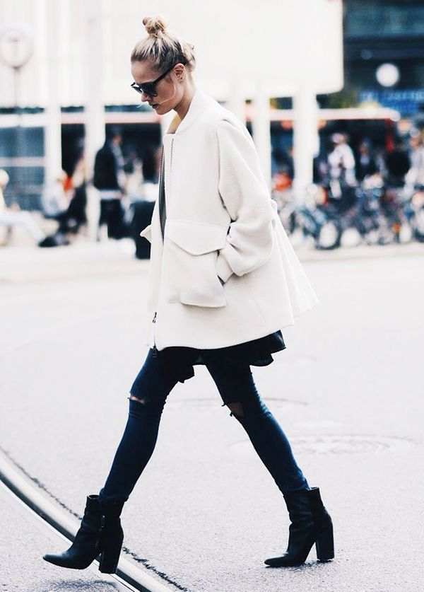 Repins:2155 Shop a similar white jacket.