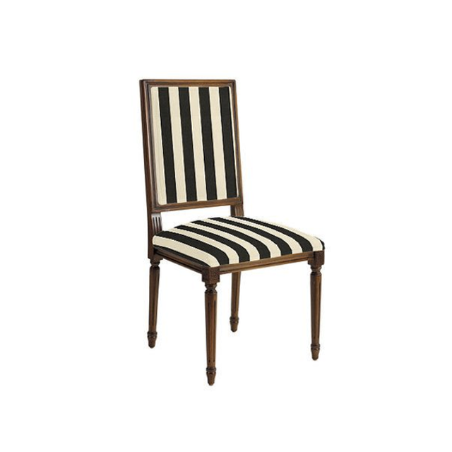 Ballard Designs Square Louis XVI Back Side Chair