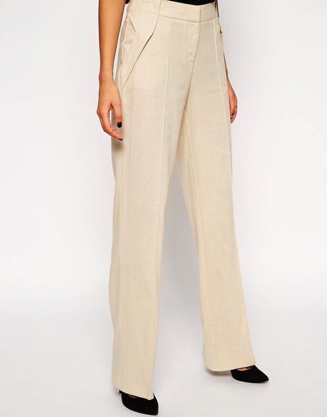 ASOS Linen Pants In Wide Leg