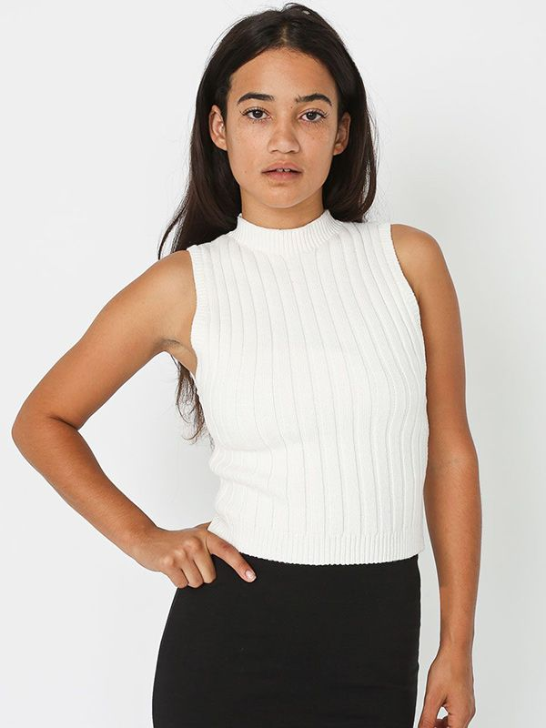 American Apparel Knit Rib Tank
