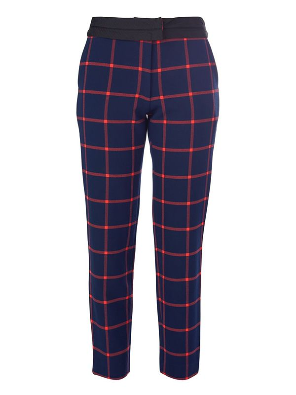 Thakoon Addition Cropped Tartan Trousers